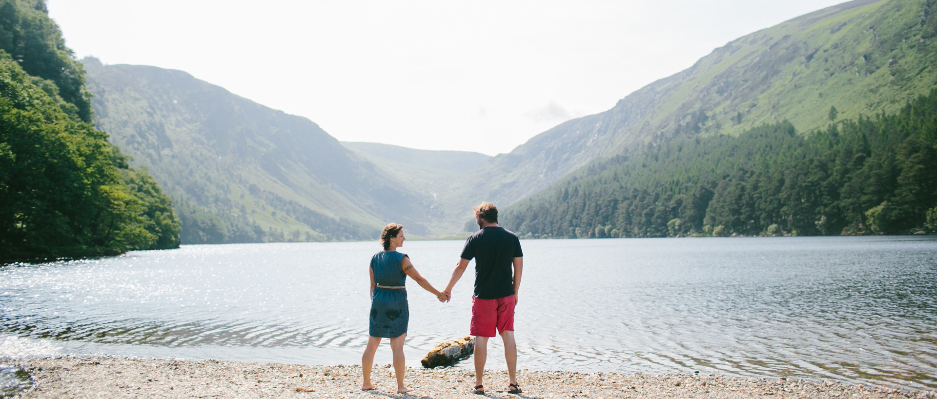 Couple holding hands in Glendalough Co. Wicklow