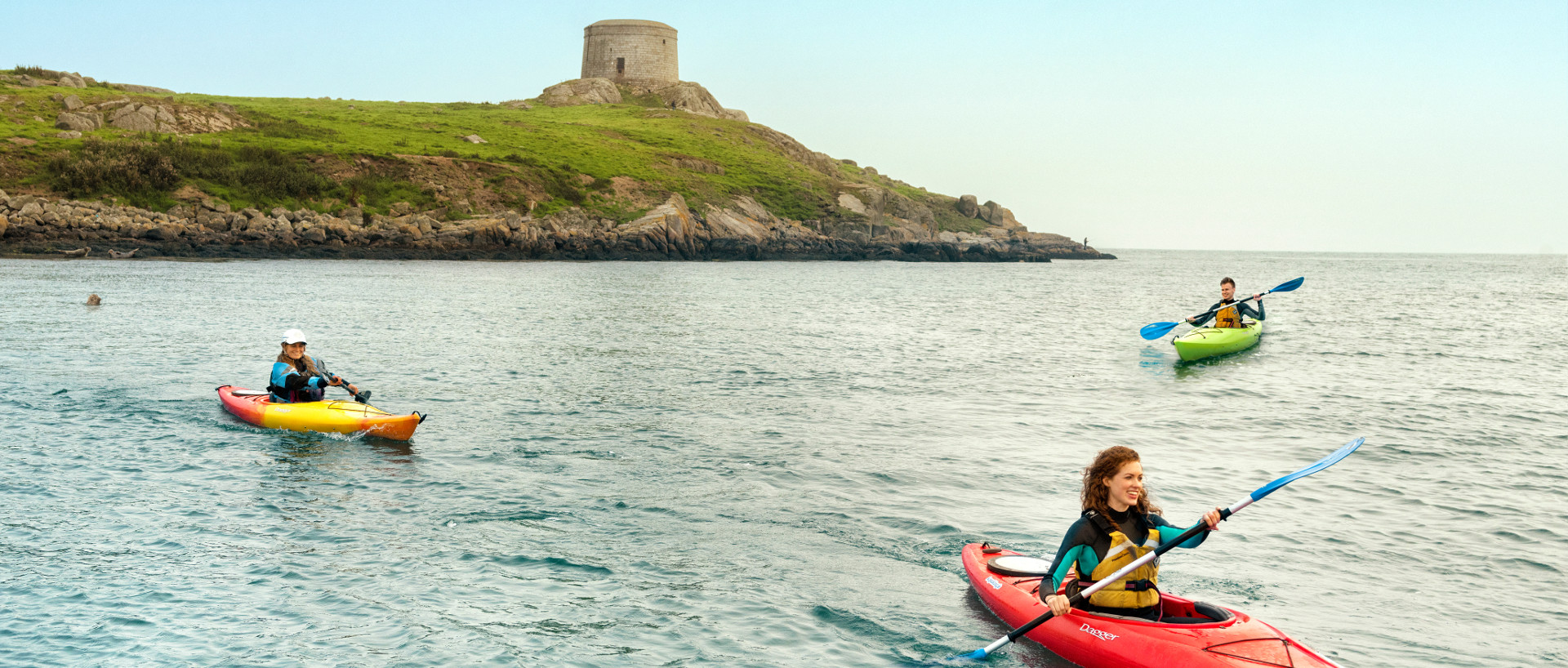 Guests of PREMIER SUITES kayaking in Dalkey
